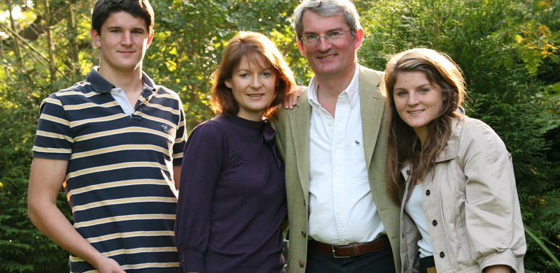 Nicky and her family, Richard, John and Lydia